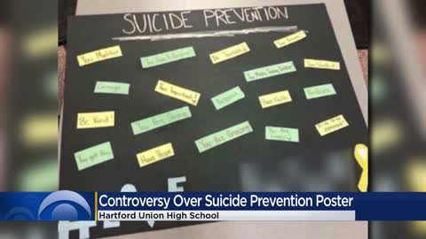 Suicide prevention posters spark controversy at Hartford Union...